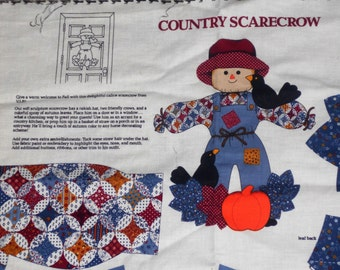 COUNTRY SCARECROW Fabric Panel