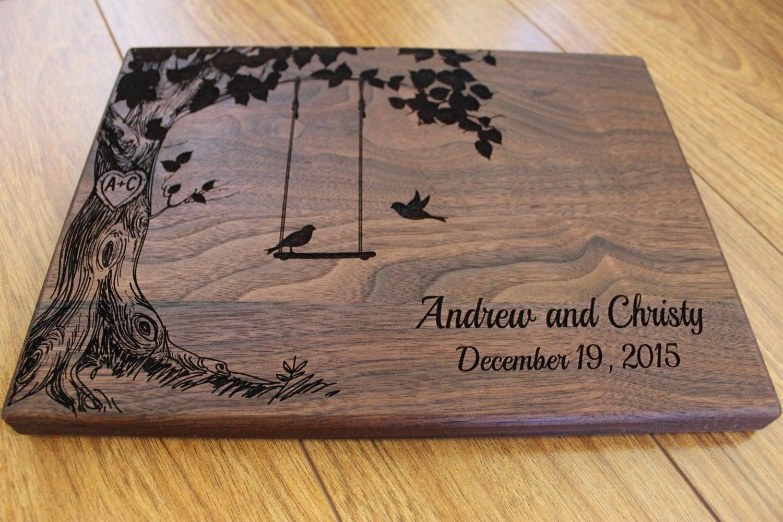 Wedding Gift Cutting Board: Personalized Cutting Board Custom Wedding By EngrainedMemories