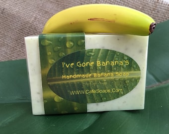 I've Gone Banana's Natural Banana Handmade Soap Goats Milk Shea Butter Soap Gift for Him or Gift for Her