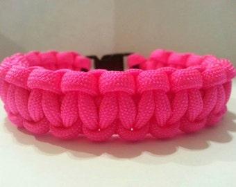 Hot Pink Paracord Bracelet