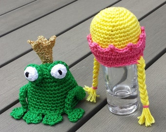 The Princess and the Frog - crochet egg cosy
