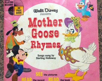 Walt Disney presents Mother Goose Rhymes . Record LP