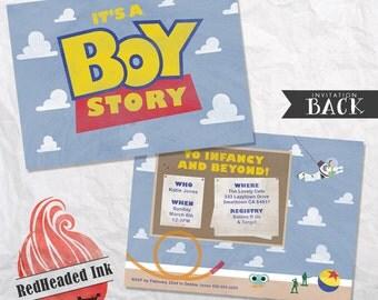 Toy Story Baby Shower Invitation