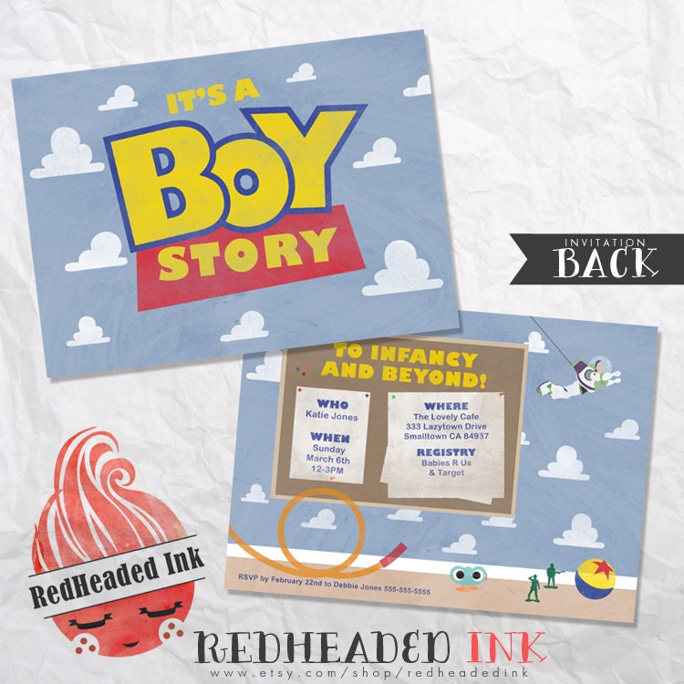 toy story baby shower invitation, Baby shower