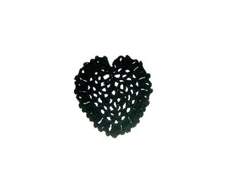 Crochet heart applique, scrapbooking,wedding decorations,