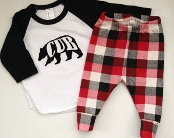 NEW! Black/Red and White Buffalo Leggings-Infant and Toddler Sizes