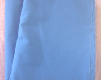 Vintage Blue Polyester Twill Fabric Size 60 x 336 Inch Circa 1980s Material Clothes Crafts Art Career