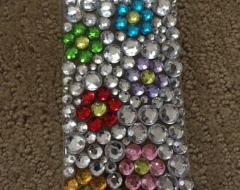 Rhinestone Floral iPhone 6 Case, sparkly flowers, bling flowers