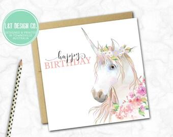 Birthday Card {UNICORN}