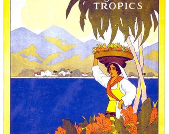 Vintage Jamaica Travel Poster A3 Print
