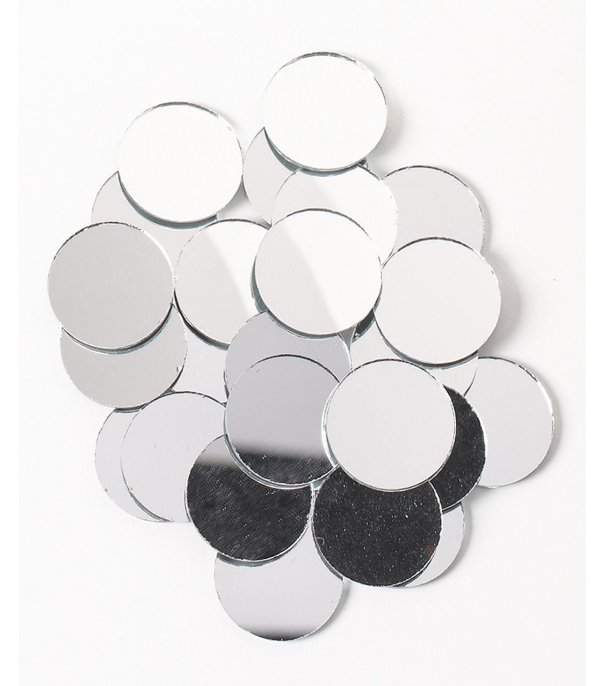 Mirrors Small: Shiny Round Mirrors Small Mirrors Mirror Glass Crafting