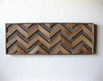 Reclaimed Barn Wood Rustic Chevron, Abstract Wall Art, Contemporary Simplicity, Rustic Elegance ~ Chevron Wall Art