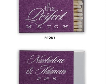 Personalized Wedding Matches Matchbook Custom Printed Lots of Colors and Designs to choose from! The PERFECT MATCH! Only 1.10 each