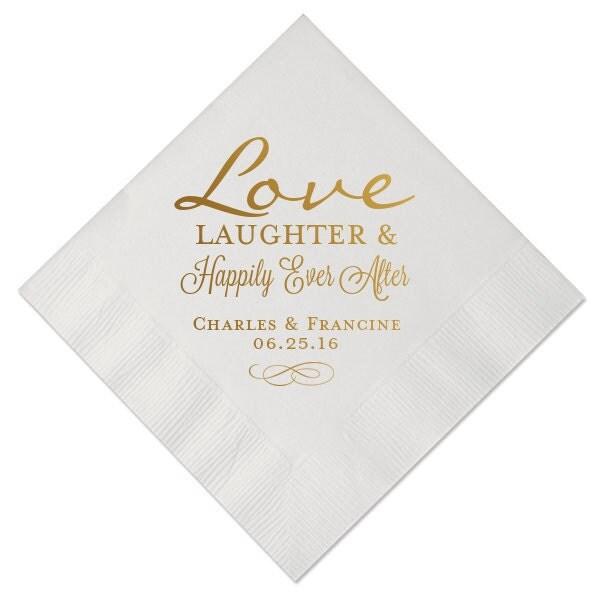 100 Personalized Napkins Personalized Napkins Bridal Shower