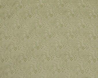 "Green/Gold Satin Brocade Jacquard 100% Silk Fabric 44"" Wide, By The Yard (JD-373B)"