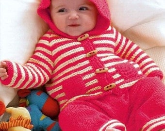 King Cole Knitting Patterns To Download : Vintage Baby Knitting Pattern - Pram Suit - PDF Download from AtticMagpie on ...