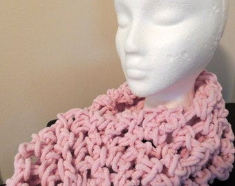 Pink made by hands infinity scarf