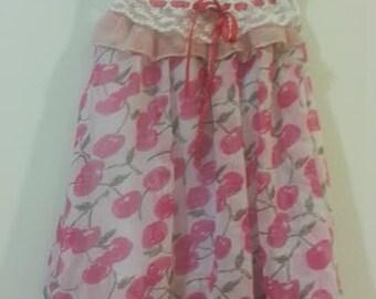Toddler Cherry Chiffon Dress