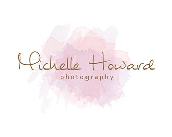 Pre-made Logo & Photography logo - Logo Template - Pre-made Watermark Design - photo watermark - Watercolor Logo - Watercolor watermark 544