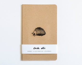 Moleskine Journal: Echidna, Hand Illustrated - Blank or Lined