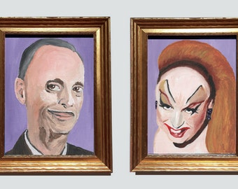 Two 8x10 Prints of John Waters and Divine