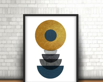 Mid Century Modern, Art Print, Geometric Art Print, Printable Art, Scandinavian Art Geometric Print Abstract Art Print Instant Download *31*