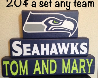 Seattle seahawks block signs personalized