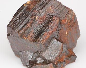 Well-Formed Lutrous Metallic Goethite-Replacing-Pyrite Striated Crystal Cluster