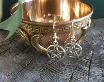 Pentagram Earrings - Pentacle Earrings - Pentagram Jewelry - Earrings Dangle - Earrings Handmade