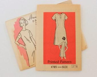 """Anne Adams 4765 · sz 12.5 bust 35"""" · Womens 1960s Pattern"""
