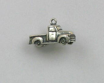 Sterling Silver 3-D Pickup Truck Charm