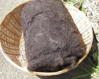 British Shetland Wool Batts Natural Black 100g/200g- 3.52/7.04oz Batts Wet/Needle Felting/Core Wool/Spinning