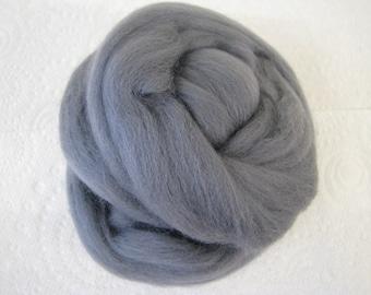 SALE Merino Wool Roving/top 64's 23 Microns - GRANITE. For Spinning, Felting, Craft Work.
