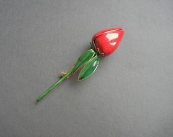 Sandor red rose brooch, valentines day gift