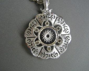 Vintage HMS Atomic Pendant, HMS atomic necklace, vintage atomic necklace, Madeira designs necklace, HMS silver necklace, Madeira Creations