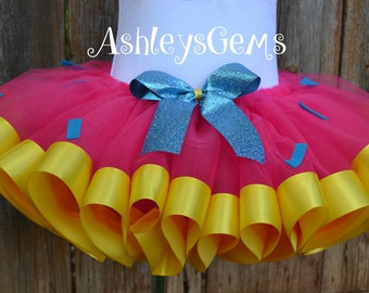 Shopkins Tutu, Cupcake Tutu, Pink and Yellow Tutu, Clown Tutu, Circus Tutu, Pink Lemonade Tutu, Ribbon Tutu, Birthday Tutu, Pinkie Pie Tutu
