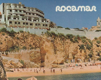 1 Unused Postcard, Hotel Rocamar, Albufeira, Portugal, c1980s, good shape
