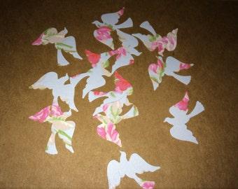 100 x Bird Embellishments, bird confetti, vintage wedding table decor