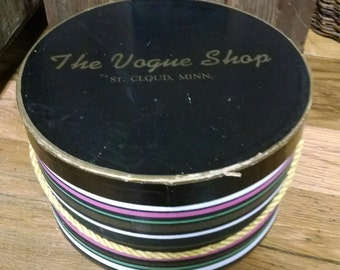 Vintage Hat Box from the Vogue Shop, St Cloud, MN
