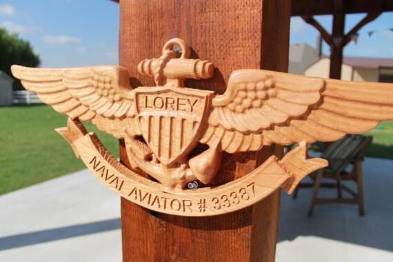 Naval Aviator Wings with custom banner