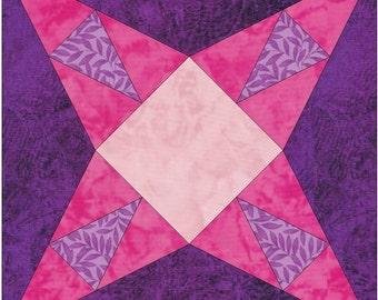 Texas Ranger Priscilla Paper Template Quilting Block Pattern PDF