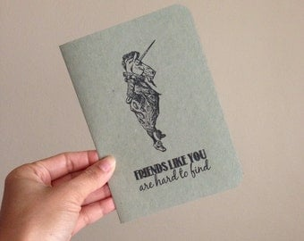 Friendship Card - Friends like you are hard to find - Kraft Paper, 100% Recycled Post Consumer Paper.