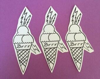 Gucci Mane Ice Cream Cone Inspired sticker set