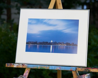 Madison Wisconsin Photography 16X20 Framed and Matted, Wisconsin State Capitol, Downtown Madison