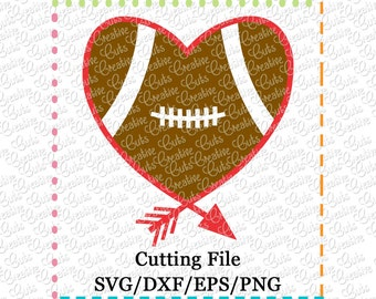 EXCLUSIVE SVG eps  DXF Cutting File Heart Arrow Football svg, football heart svg, football svg, tribal svg, arrow svg