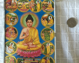 Free Shipping* Siddhartha Gautama Buddha Depiction Vintage Sivery Picture