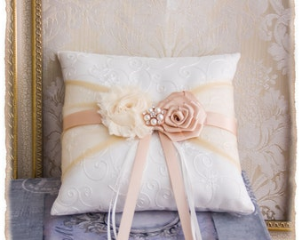 Rose Gold Ring Bearer Pillow, Blush Ring Pillow