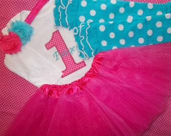 Baby Girl 1st Birthday Outfit, First Birthday Tutu Set, Second Birthday Tutu Set, Number One Birthday Outfit, Number One Tutu Set