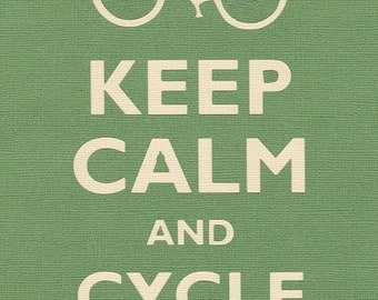 Rectangle Refrigerator Magnet - Keep Calm and Cycle On Bicycle - MT - DF - 0060