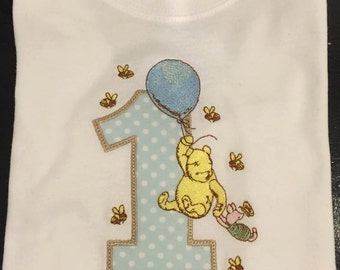 Classic Pooh Birthday Shirt or Body Suit